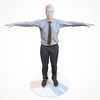 3d model business costume outfit male