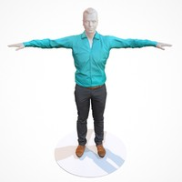 business costume outfit male 3d fbx