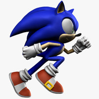 3d model sonic hedgehog