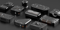 sci-fi boxes futuristic 3d model