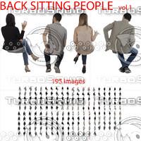 Back Sitting People