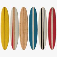 3d longboard surf board