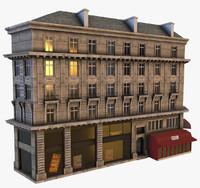 3d model of parisian building