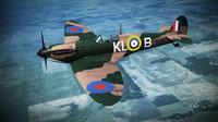 supermarine spitfire squadron 3d obj