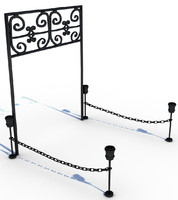 free iron gate 3d model