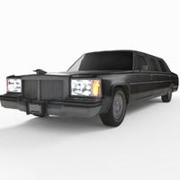 3d generic limousine limo