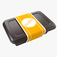 plastic food container 3d 3ds