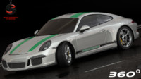 porsche 911 r 2016 3d model