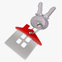 3d keys key-chain