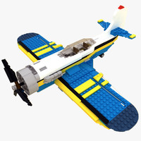 3d model lego 31011 plane