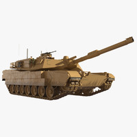 m1a1 abrams main battle tank 3d model