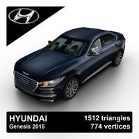 2015 hyundai genesis sedan obj