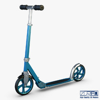 3d kick scooter blue