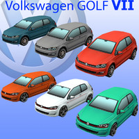 3d model volkswagen golf car