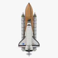 3d space shuttle discovery boosters model