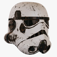 damaged stormtrooper helmet 3d model