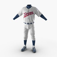 baseball player outfit twins 3d model