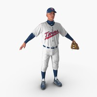 baseball player twins 3d model