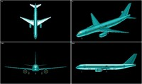 3d obj irkut mc-21-300 aircraft solid