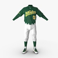 3d model baseball player outfit athletics