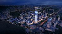 3d model cityscape architectures road