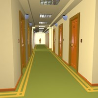 3d cartoon hallway toon