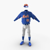 baseball player outfit mets 3d obj