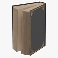 classic book 01 standing 3d model