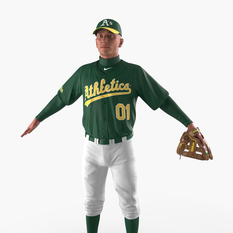 Baseball Player Athletics c4d 3d model 00.jpg