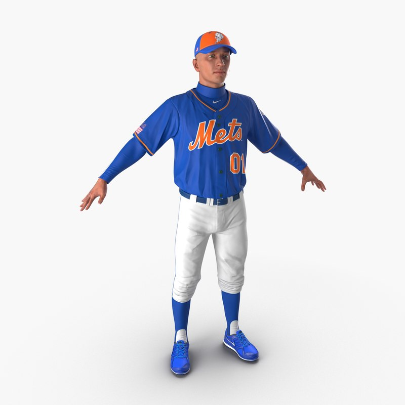 Baseball Player Mets vray 3d model 00.jpg