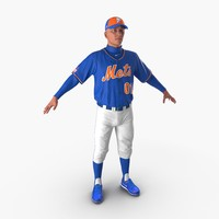 baseball player mets 2 3d x
