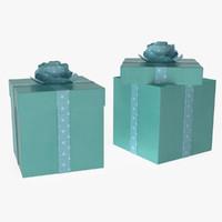 gift boxes 3d obj