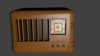 radio 1940 3d model