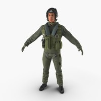 3d 3ds military jet fighter pilot