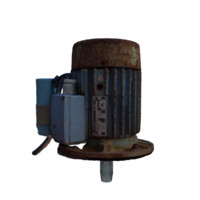 old electric motor 3d max