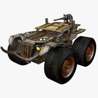 combat truck car 3d 3ds