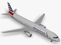3d c4d airbus a321 american airlines