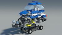 Detailed Lego Car