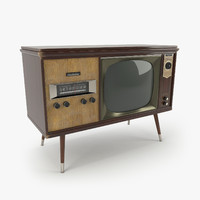 3d vintage olympic tv console model