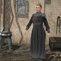 3d model dress medieval poser v4