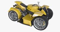photoreal electric 4-wheel bike 3d model