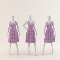 Woman Mannequin with Dress 001