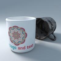 old cup ceramic 3d model