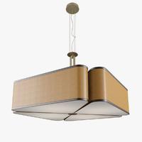 3d oasis quadrifoglio ceiling light model