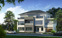 contemporary house villa building 3d model