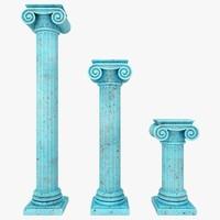 3d model column 04 3 sizes