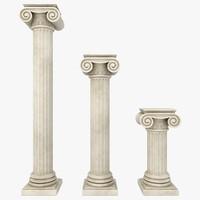 column 04 3 sizes 3d obj