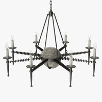 3d model of avrett - franc chandelier