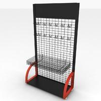 3d model store rack