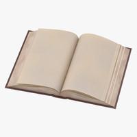 3d classic book 02 open